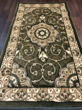 Modern/traditional Aprox 4x2 60cm x110cm New Rugs Woven Hand Carved Nice Green.